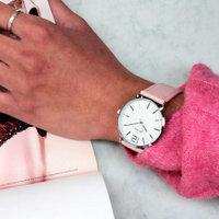 Dames horloge Good Times|Roze zilver|PU leder
