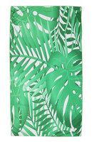 Lang strandlaken Jungle Fever|Badstof Microfiber|Badlaken|Tropische bladerprint|Wit groen
