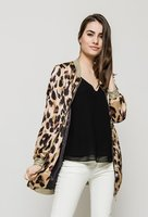 Zijdezacht bomber jasje luipaardprint|Bomber jack|Lange bomber jas|Leopard
