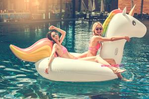 Inflatable Unicorn XXL|Opblaasfiguur|Waterspeelgoed|Eenhoorn regenboog|Extra groot formaat