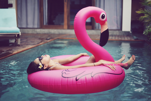 Inflatable Lovely Flamingo|Opblaasfiguur|Waterspeelgoed|Roze Flamingo|Opblaasbare zwemband