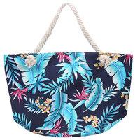 Beach Bag Sun|Strandtas|Tropische bladeren print|Canvas