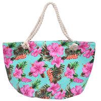 Beach Bag Flower|Strandtas|Tropische bloemenprint|Canvas
