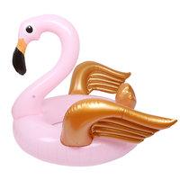 Inflatable Flamingo Gold|Opblaasfiguur|Waterspeelgoed|Roze flamingo|Gouden vleugels|Luchtbed
