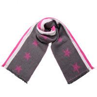 Mooie warme sjaal Shine Like Stars|Extra lange dames|Sterren streep|Roze Grijs Wit