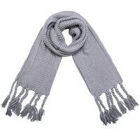 Mooie lange gebreide sjaal Scandinavian|Grijs|Dikke kwaliteit