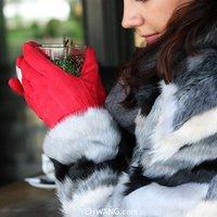 Zachte dames handschoenen Chic Bow|Rood|Strik|warme handschoenen