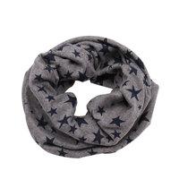 Leuke kindersjaal Stars|Grijs blauwe col sjaal jongens meisjes|Luchtige sjaal