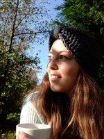 Hoofdband Winter Bow|Grijs|Gebreide haarband|Warme hoofdband haarband