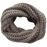 Gebreide col sjaal Snowland|Taupe|Tube shawl|Ronde sjaal