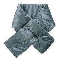 Trendy puffer sjaal Velvet grijs|Lange dames sjaal|velvet fluweel