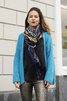 Gebreid fluffy vest Alexandre Laurent Turquoise|Blauw|mohair