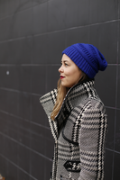 Warme dames muts Royal|Blauw|Gebreide beanie
