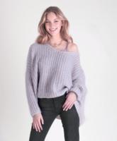 Gebreid fluffy trui Alexandre Laurent Grijs|mohair sweater