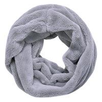 Faux fur col sjaal|Grijs|Tube shawl|col sjaal|Nep bont