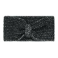 Hoofdband Daydreamer|Zwart zilver|Gebreide haarband|Oorwarmer
