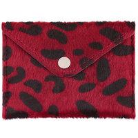 Dames portemonnee Spots|Rood zwart|Kleine portemonnee
