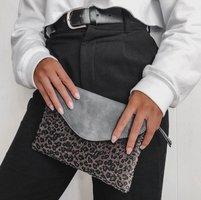 Dames clutch Leopard Lover|Handtas|Schoudertas|Luipaard print|Grijs