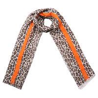 Lange dames sjaal Funky Beast|Lange shawl|Luipaard print|Bruin beige oranje