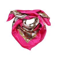 Vierkant zijdezacht sjaaltje Amazone|Satijn|Roze beige|Bandana sjaaltje in je haar