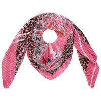Vierkante zijdezachte dames sjaal Summer is Here|Vierkante shawl|Satijn|Roze Luipaard