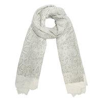 Lange dames sjaal Shimmering Snake|Lange shawl|Beige glitter