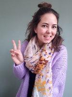 Gebreid fluffy vest Lila paars|Zacht vest|mohair mix