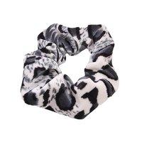 Scrunchie Cute Leopard|Haarelastiek|Haarwokkel|Zwart wit grijs luipaard