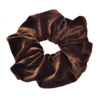 Scrunchie Sweet Velvet|Haarelastiek|Haarwokkel|Bruin