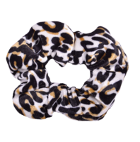 Scrunchie Cute Leopard|Haarelastiek|Haarwokkel|Wit bruin|luipaard