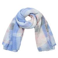 Lange sjaal Check me Out|Lange shawl|Lila paars roze blauw|Geruit geblokt