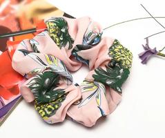 Scrunchie Pineapple Love|Haarelastiek|Haarwokkel|Roze|Ananas