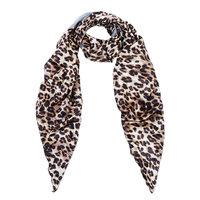 Lange sjaal Adorable Animal|Luipaard print|Grijs|Zijdezachte sjaal