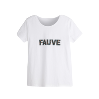 Wit t-shirt Fauve|basic wit shirt|Quote topje
