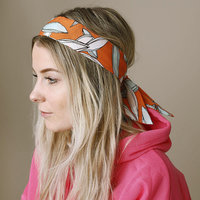 Haarband Hawaii Knot|Polyester|Haarstrik|Oranje wit