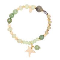 Armband Galaxy Star Groen goud Elastische armband Kralen ster