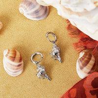 Creolen Lovely Shell Zilverkleurig Oorhangers Schelpen