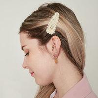 Haarclips Statement Pearl|Haarschuifje|Goud|Parels