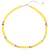 Musthave ketting Surf Babe|geel goud|Rubber kralen
