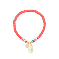 Schelpen armband Perfect Storm|Turquoise goud|Schelp|Rubber