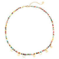 Musthave ketting Surf with Me|Multi goud|Rubber kralen