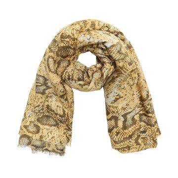 Lange dames sjaal Desert Snake Lange shawl Slangenprint Geel