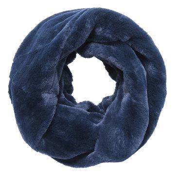 Faux fur col sjaal|Blauw|Tube shawl|col sjaal|Nep bont