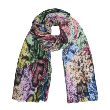 Zachte sjaal Over The Rainbow|Lange shawl|Slangenprint