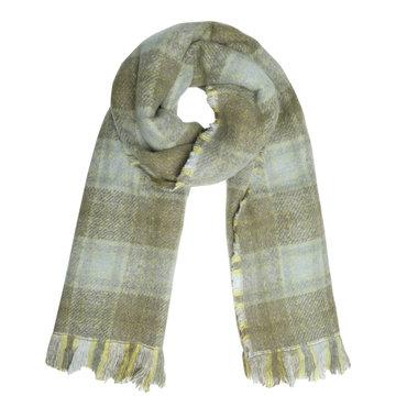 Dames sjaal Check the Box|Lange shawl|Geruit Geblokt|Groen geel