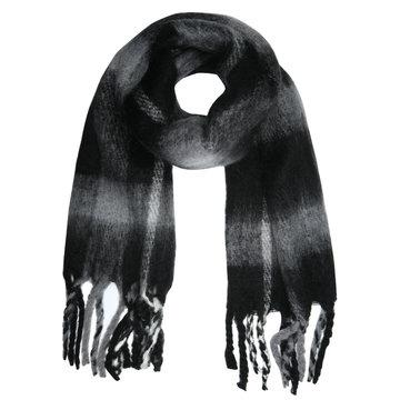 Stoere sjaal Checkered Style|Extra lange dames sjaal|Geruit Geblokt|zwart grijs wit