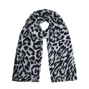 Zachte dames sjaal Jungle Queen|Grijs zwart|Luipaardprint