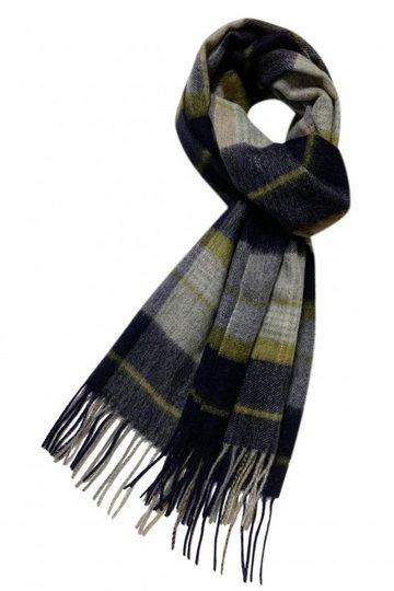 Heren sjaal Stripe Tartan Wollen shawl Geruit geblokt Blauw groen
