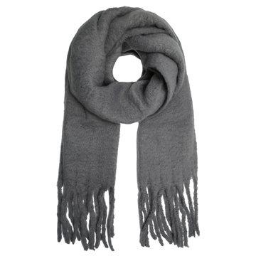 Extra dikke sjaal Solid Colors|Lange shawl|Effen grijs