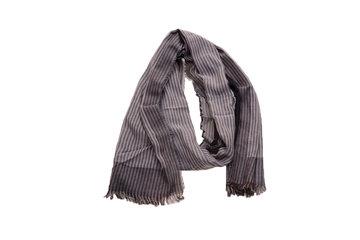 Grijs gestreepte heren sjaal